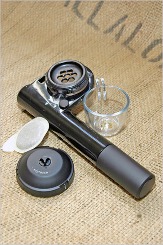 roughing it with a camping espresso maker