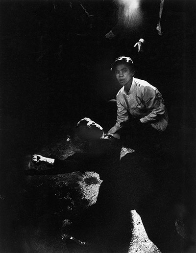 Robert F Kennedy lies in a pool of blood after being shot in 1968